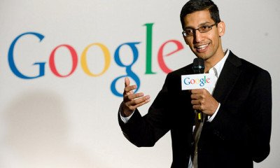 Sundar Pinchai has been appointed as new C.E.O of Google Inc!