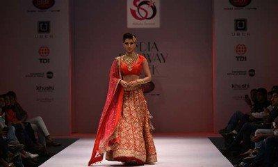 India Runway Week: Gauhar Khan lights up for Akassh K Aggarwal's collection