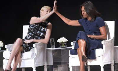 Michelle Obama and Charlize Theron say, 'Nothing sexier than a smart woman'.