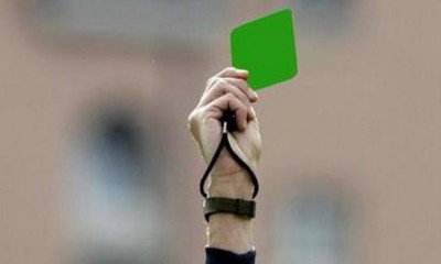 Green card issued by Serie B for fair play