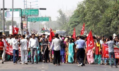 Indian Trade Unions strike to protect turf