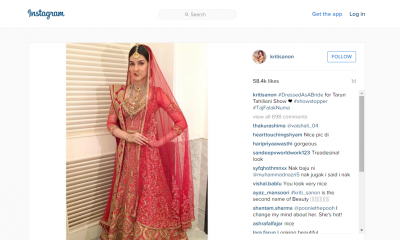 We cannot stop drooling over Kriti's bridal look