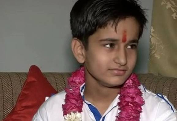 Aabhas Sharma, the youngest kid to clear 12 exams