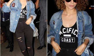 Airport Style: Who wore the patchwork better?