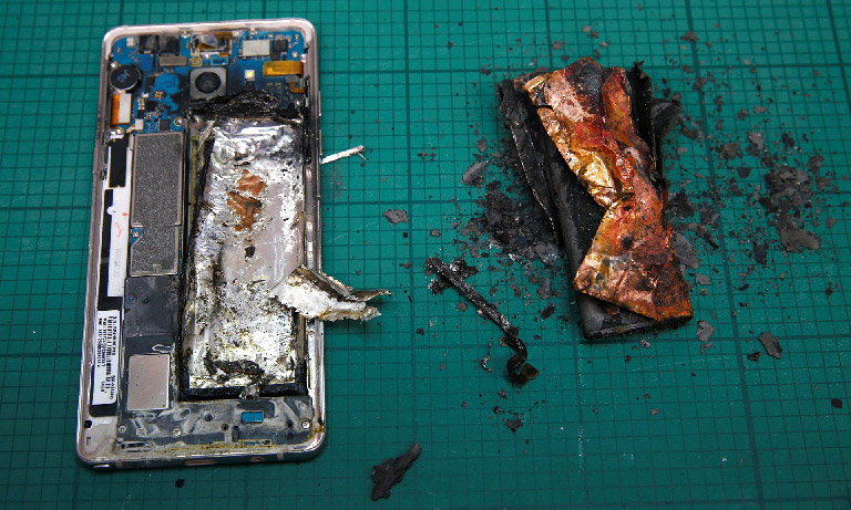 Production for Samsung galaxy note 7 suspended
