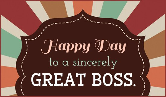 October 17 marks the National Boss's Day