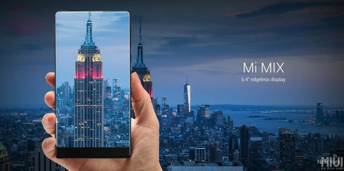 "Xiaomi Mix's 6.4"" lavishing display"