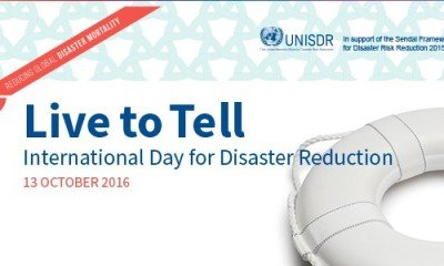 International Day for Disaster Reductionis celebrated every year on October 13th as an awareness generating towards disasters