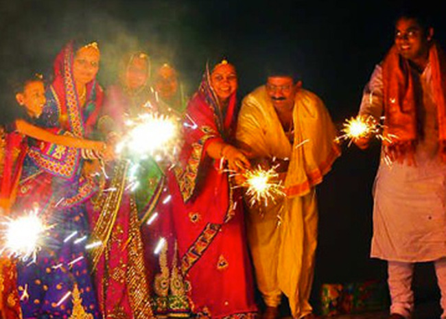 People celebrating Diwali