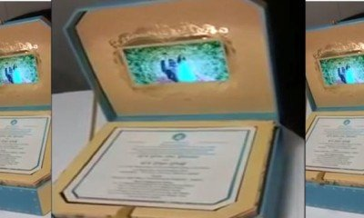 Have a look at LCD-in-a-box wedding invite