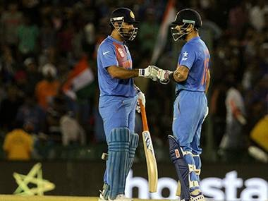 Kohli- Dhoni's praising session after the match