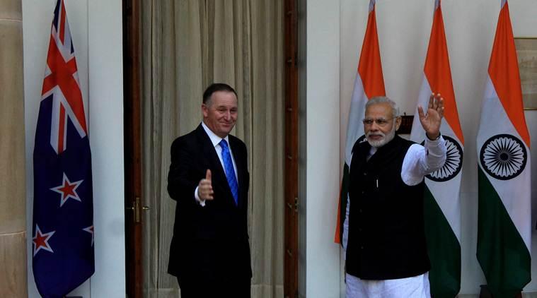Narendra Modi with New Zealand Prime Minister John Key