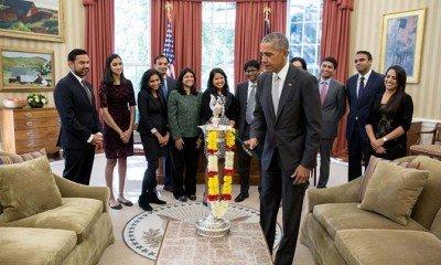 Barack Obama celebrates Diwali, lights up first-ever diya in Oval office