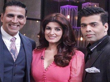 Akshay Kumar, Twinkle Khanna & Karan Johar