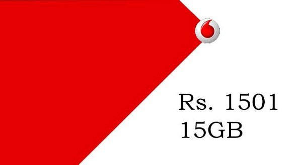 Vodafone Rs 1501 plan