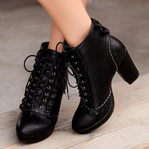 Lace –up Ankle Boots