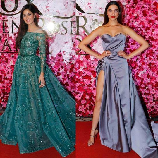 OMG! Katrina avoids Deepika at Lux Golden Rose Awards