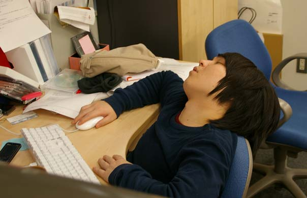 Wow! Sleeping is a sign of diligence in Japan