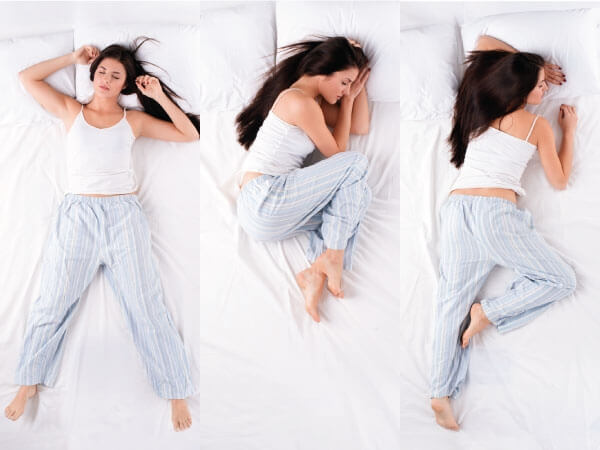 Ideal sleeping positions to stay healthy