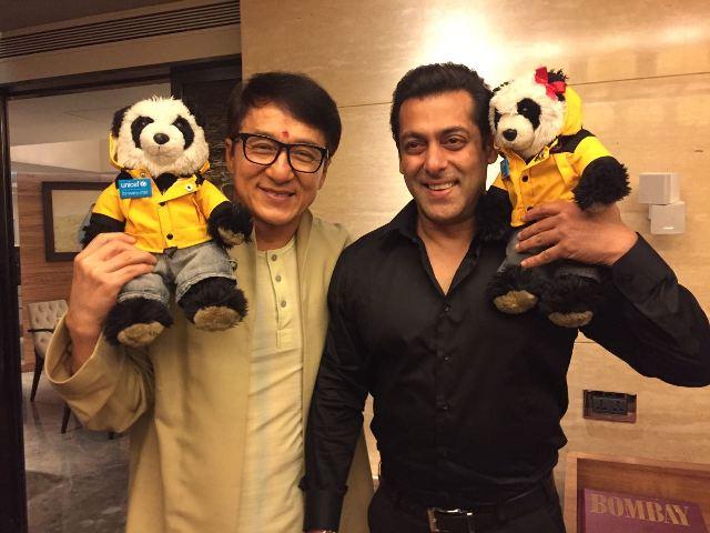 Salman Khan and Jackie Chan(Salman Khan Twitter)