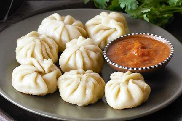 Momos is a famous dish here
