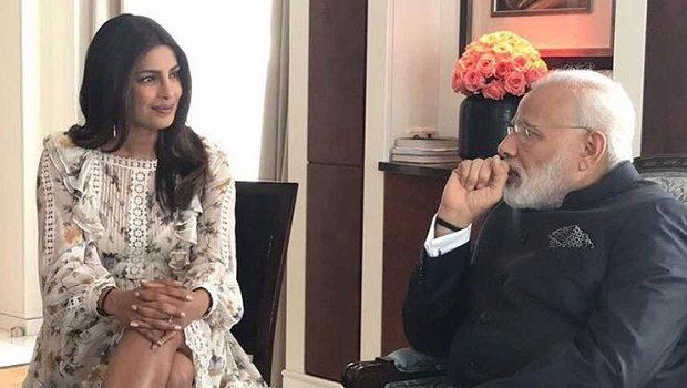 Priyanka Chopra & Narendra Modi
