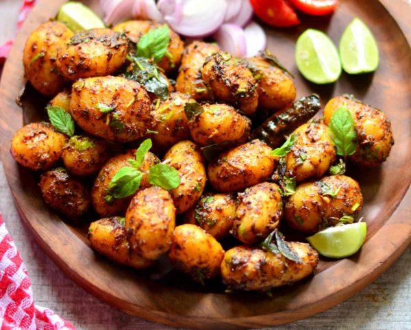 Baby masala potato