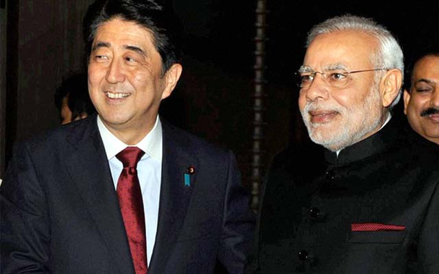 Japanese PM Shinzo Abe And Modi