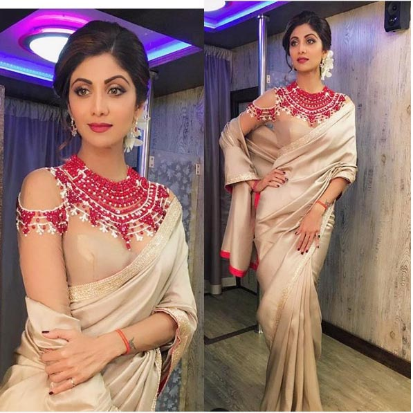 Sexy Shilpa is driving us crazy from her traditional outfits