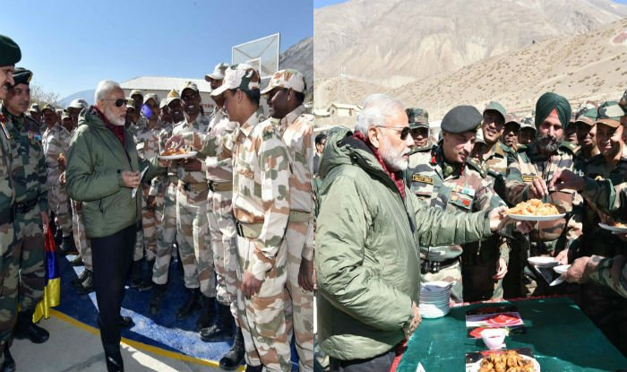 PM dedicates his Diwali to the Soldiers