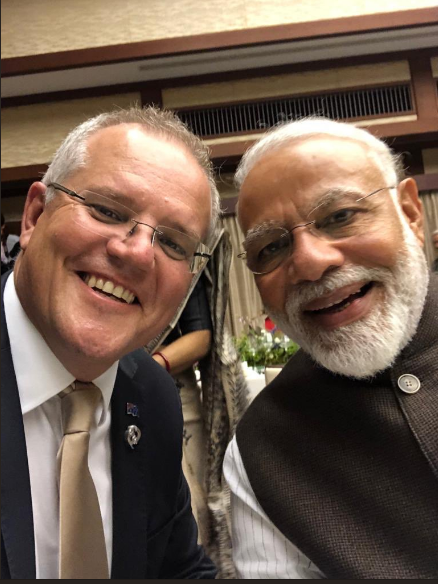 Scott Morrison and Narendra Modi takes selfie