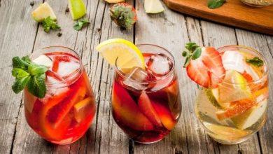 Summer cooler drinks